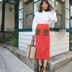 ファーポケットスカート(オレンジ)