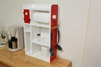 時計付き 木製スパイスラック  キッチンペーパホルダー  カップボードとしてもおしゃれです!