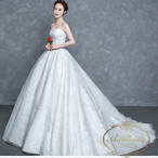 wedding dress silver white long garden wedding brisemade 結婚式 ウエディングドレス 2色展開 シルバー ホワイト レディース 格安ドレス ドレス aライン