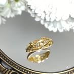 イギリス1918年製アンティークリングK18 指輪 ダイヤモンド