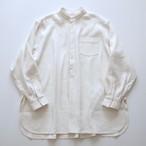 housedress shirts C/#:オフ白 ( silk56%/麻44% )