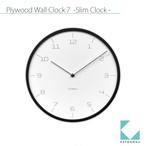 KATOMOKU plywood wall clock 7 km-71B ブラック