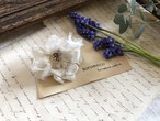 シルク裂き編み花のリング(white)