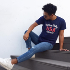 Come on baby USA Tee - Indigo