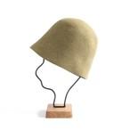 mature ha./free hat back stitch light green melange