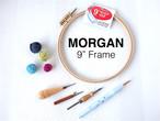 ループ&ニードル・フレーム22cm【1段式・布がずれにくい溝付き刺繍枠】MORGAN / USA製