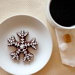 ココア味 雪の結晶   (アイシングクッキー)