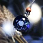 ガラスの惑星宇宙ペンダント/【訳あり品】20210222