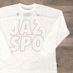 """【ラスト1】hummel × Jazzy Sport  """"JAZSPO"""" メッシュ ロングスリーブ/ホワイト"""