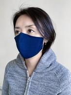 【ネイビー】和紙100%・洗って使えるマスク(日本製)