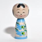 ネコ天使こけし 約3寸 約9.7cm 梅木直美 工人(蔵王高湯系)#0024