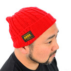 NDJ CABLE KNIT CAP Red