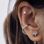 slim curve ear cuff silver