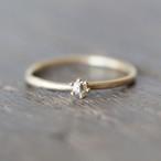 10K 天然ブラウンダイヤモンドのリング