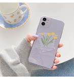 Yellow flower iphone case