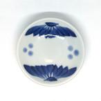 【砥部焼/梅山窯】3寸小皿(呉須菊)
