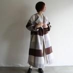 PHEENY【 womens 】big block check gown coat