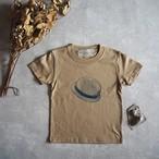 背伸びTシャツ サンドカーキ 【キッズ】90cm~120cm