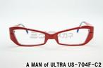 【正規取扱店】A MAN of ULTRA×BLACK ICE US-704F-C2 メガネ 円谷プロ ウルトラマン 眼鏡 フレーム アイスラッガー コラボ ウルトラセブン 変身 ブルーライトカット 限定商品