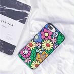 花柄 3D カラフル シリコン ポップ iPhone シェルカバー ケース SNS映え 花束 可愛い 個性的 ★ iPhone 6 / 6s / 6Plus / 6sPlus / 7 / 7Plus / 8 / 8Plus / X ★ [MD038]