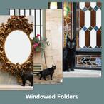 窓つきクリアフォルダー(3枚セット)