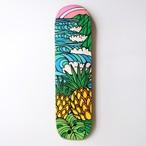 【原画】アップサイクル・スケートボードデッキ(Pineapple Wave)