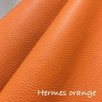 【20%OFF¥1,782→¥1,426】36cm×20cm カルトナージュ用イタリア製レザー(エルメス オレンジ)