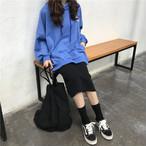 ルーズシルエット 英字ロゴプリント フード付きパーカー【0781】