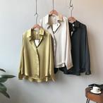 【トップス】ファッション切り替え無地ブラウス・シャツ24313625
