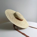 Straw Plate Hat / Brown