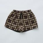 eLfinFolk エルフィンフォルク Amish quilt shorts size:90 color:brown