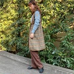 "(LOOK) ""DAKS"" check pattern liner"