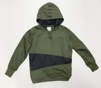 18AW 硫化染め高密度綿麻プルオーバーパーカー/Sulfide dyeing High density cotton linen pullover hoodie