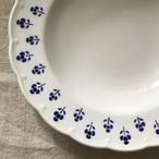 ベルギーの青い花のスープ皿