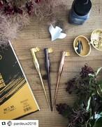 値下げ♡Moblique カリグラフィーペンホルダー (ゴールド系)