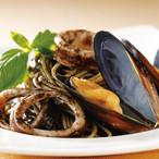 ムール貝とイカ墨のソース