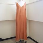 【hippiness】cupro Vneck camisole one-piece(orange)/ 【ヒッピネス】キュプラ ブイネック キャミソール ワンピース(orange)