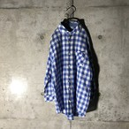 [BURBERRY] water blue checked shirt