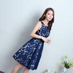 【予約商品】ネイビーアラベスクドレス