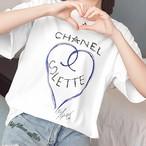 CH☆NEL Tシャツ/ハート/オーバーサイズ/パロディ/可愛い/レディース/トップス/春夏/2018