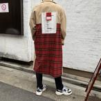 【即納】韓国ファッション Cash Back タグトレンチコート