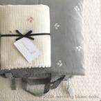 【ご予約期間4月1日(月)1:59まで】お昼寝布団 さくらんぼ刺繍グレー(全2色)中綿パット一体型タイプ