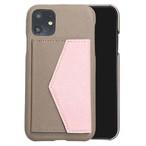 【グレージュ×桜ピンク】 iPhone / Galaxy / Xperia /  Googlepixel / Huawei