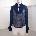 【RehersalL】lace trimming blouse(night) /【リハーズオール】レーストリミングブラウス(ナイト)