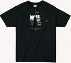 chiharuno Tシャツ バーガンディ ブラック
