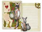 A4レターペーパー - 不思議の国のシロウサギ - 金星灯百貨店