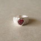 silver heart ring 予約販売