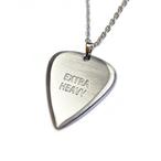 [限定10個] EXTRA HEAVY(エクストラヘヴィ) ギター ピック シルバー ネックレス 高級ヘアライン仕上げ Made in Japan 日本製 ティアドロップ