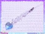 スワロフスキー×水晶さざれ ミニサンキャッチャーストラップ ペールブルー