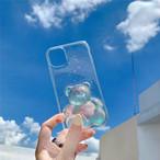 3D clear bear iphone case